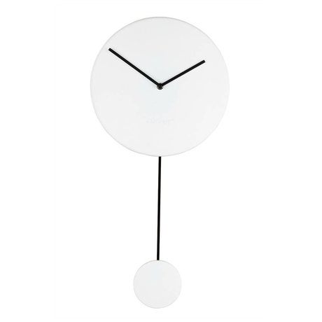 Zuiver Reloj mínima 30x4x63cm plástico blanco