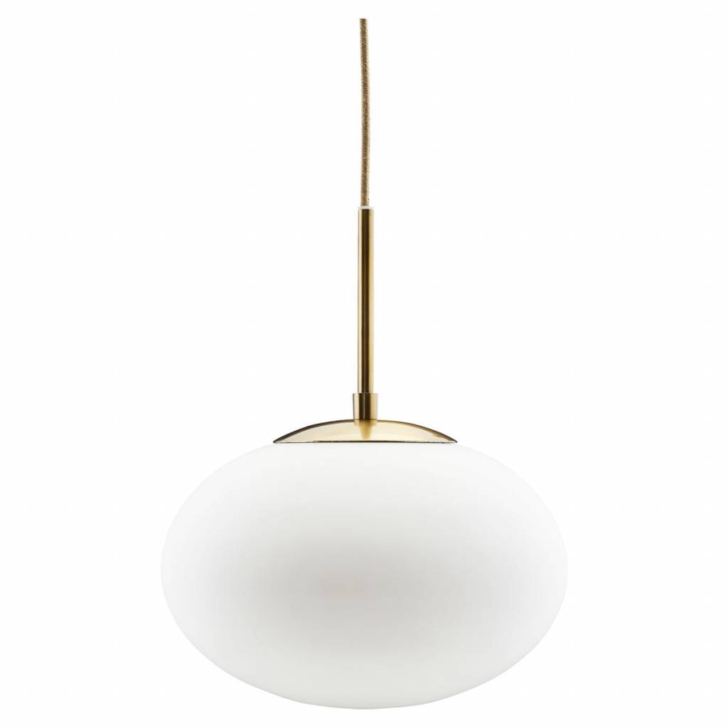 Housedoctor Haengende Lampe Hvid Opalglas 30x35cm Metal Lefliving Com