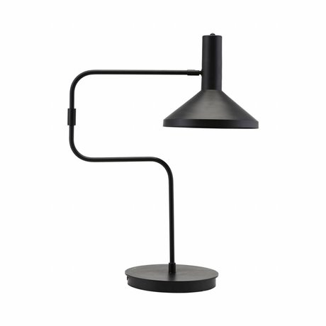 Housedoctor Lampe de table en métal noir 66cm