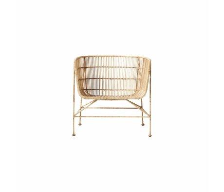 Housedoctor Doğal kahverengi rattan sandalye Coon 60,5x70x70cm