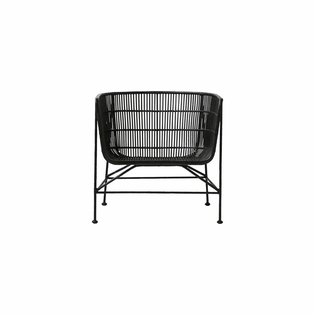 housedoctor coon schwarz rattan stuhl. Black Bedroom Furniture Sets. Home Design Ideas