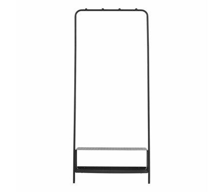 Housedoctor Way rack acier noir 74x32x175cm