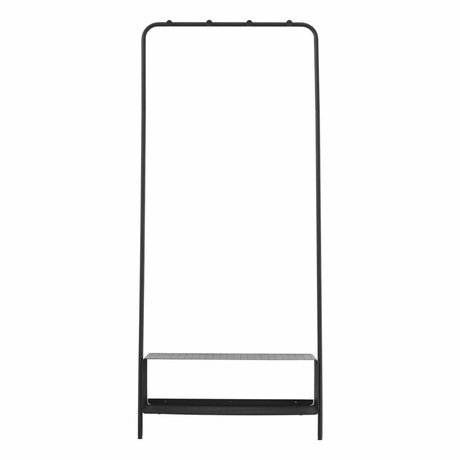 Housedoctor Wege-Rack schwarz Stahl 74x32x175cm