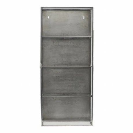 Housedoctor Wardrobe zinc gray metallic glass 35x15x80cm