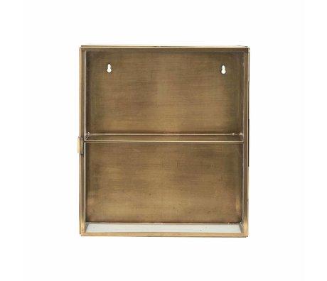 Housedoctor Brass armario de latón, metal, vidrio, 35x15x40cm
