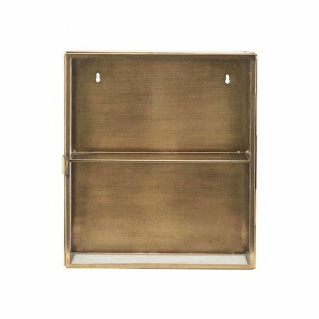 Housedoctor Armoire de laiton laiton, métal, verre, 35x15x40cm