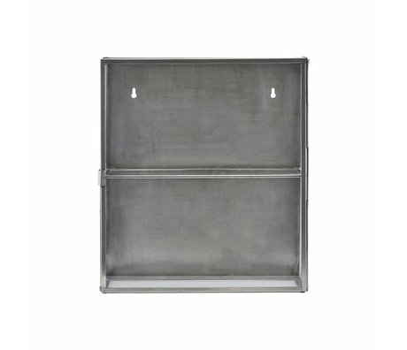Housedoctor Klædeskab zink grå metallic glas 35x15x40cm