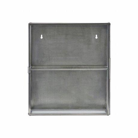 Housedoctor Wardrobe zinc gray metallic glass 35x15x40cm