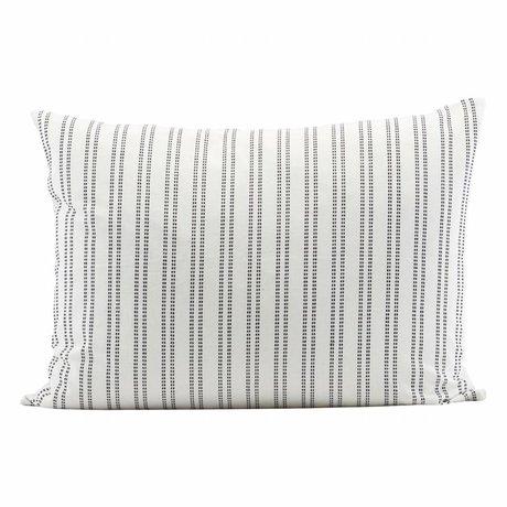 Housedoctor coton blanc Kussenhoes 80x60cm