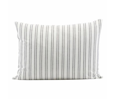 Housedoctor coton blanc Kussenhoes 50x30cm