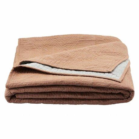 Housedoctor Bedspread Tria brown orange cotton 250x250cm