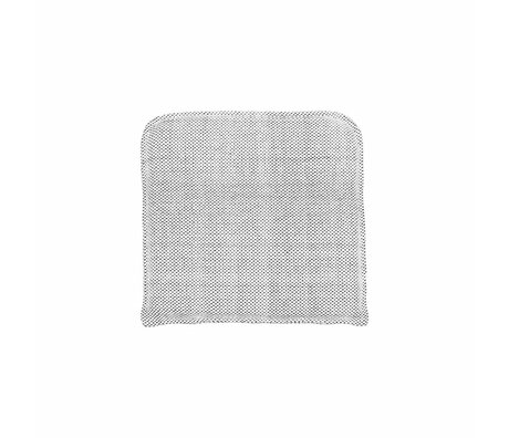 Housedoctor Coon coton gris taie 48x48cm