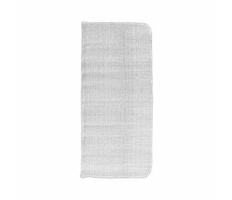 Housedoctor Coon gris de algodón colchón 117x48cm