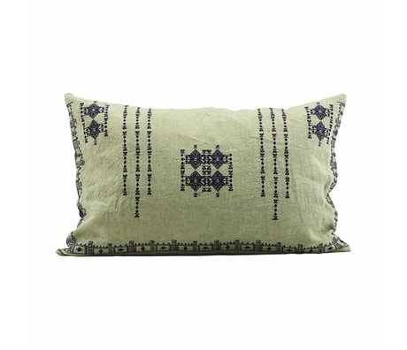 Housedoctor Cushion cover Inca green linen 40x60cm