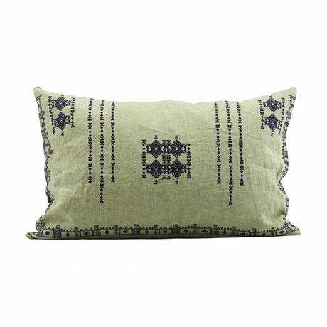 Housedoctor Funda de almohada 40x60cm Inca lino verde