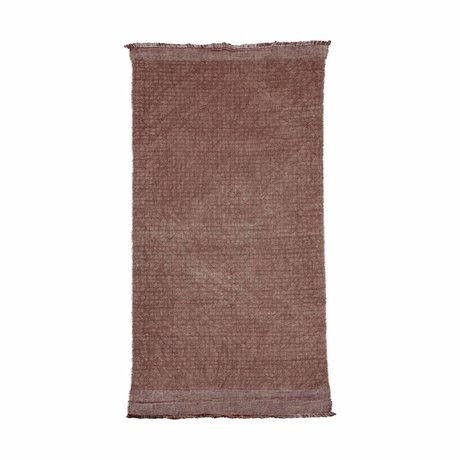 Housedoctor Alfombra Shander Burnt Henna luz roja rosa de algodón, yute 200x90cm