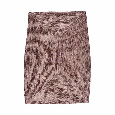 Housedoctor Teppich Structure Henna rosa rot Hanf 85x130cm