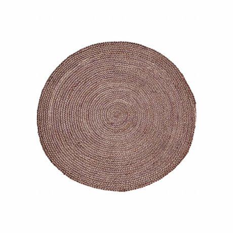 Housedoctor Carpet Structure Henna pink red hemp ∅ 100cm