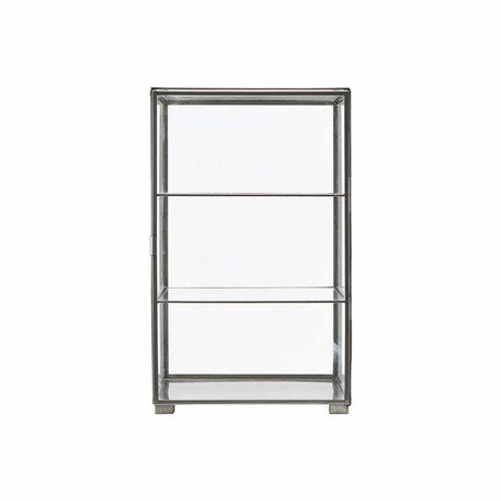 Housedoctor Schrank Zink Grauguß Glas 35x35x56.6cm