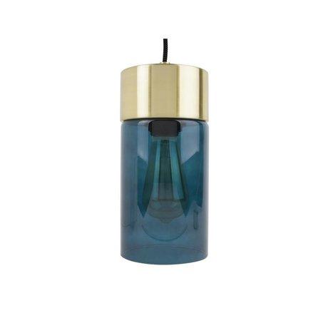 Leitmotiv Lax guld vedhæng lyseblå glas Ø12cmx24,5cm