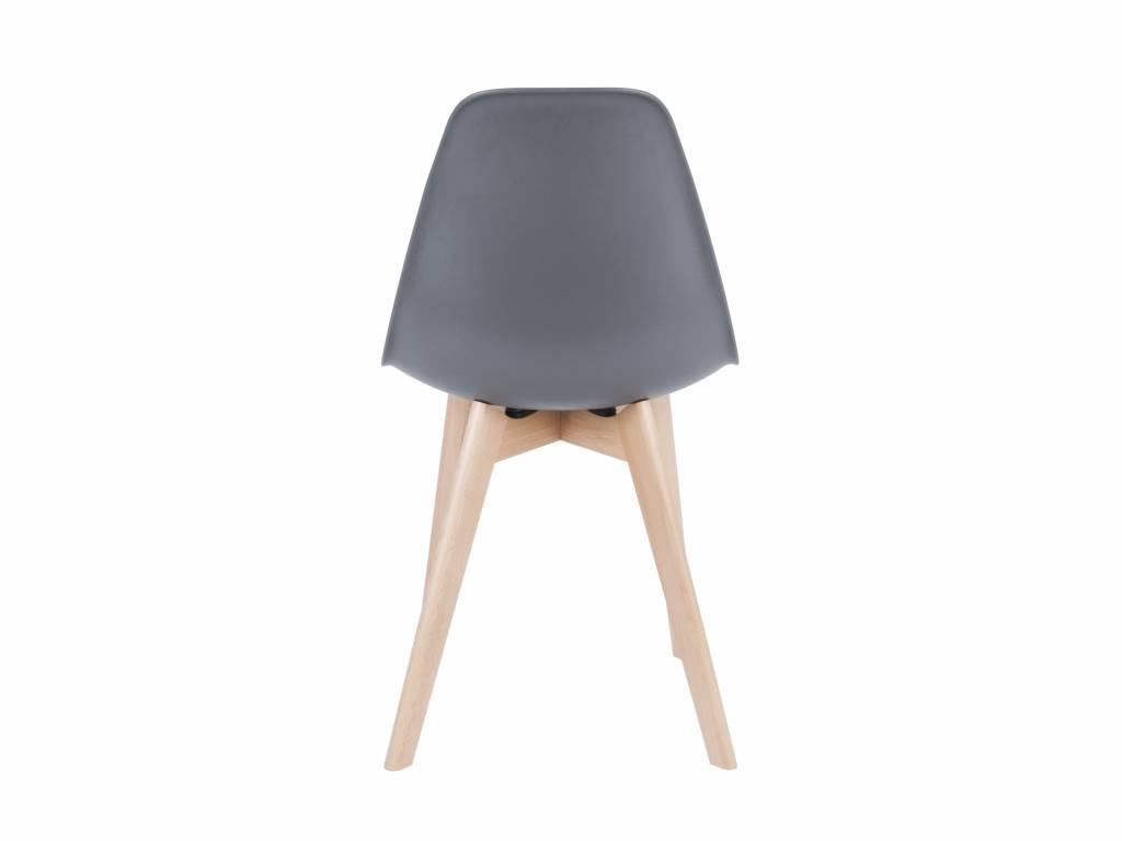 Leitmotiv sedia da pranzo di base in plastica grigia legno