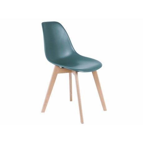 Leitmotiv Yemek sandalye ilköğretim mavi 80x48x38cm Plastik Ahşap