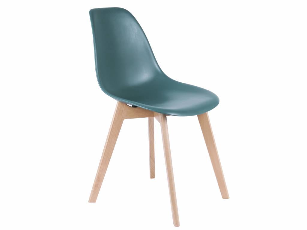 Leitmotiv sedia da pranzo elementare blu 80x48x38cm wood plastic
