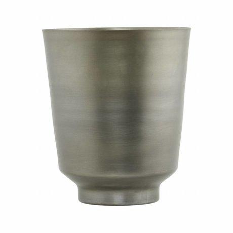 Housedoctor Flowerpot Oli Silber Eisen Ø14,5x18cm