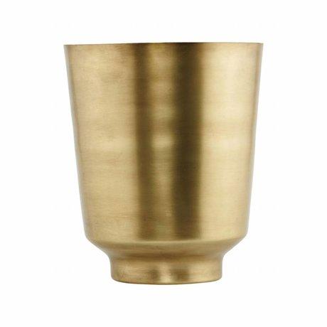 Housedoctor Flowerpot Oli guld-jern Ø14,5x18cm