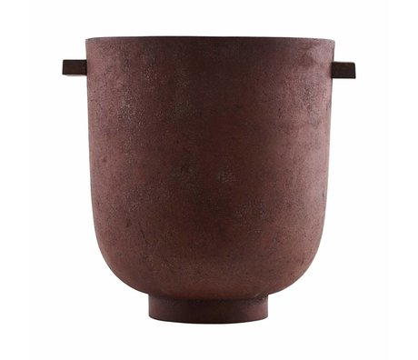 Housedoctor Pot FOEM burnt red metal Ø20x23cm