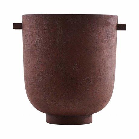 Housedoctor Pot FOEM brûlé Ø20x23cm métallique rouge