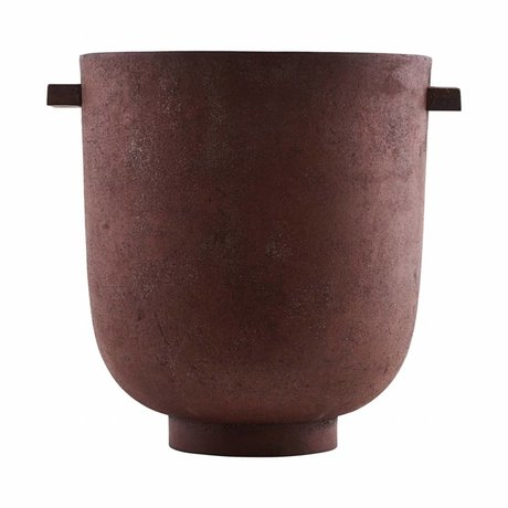 Housedoctor Pot FOEM verbrannt rote Metall Ø20x23cm