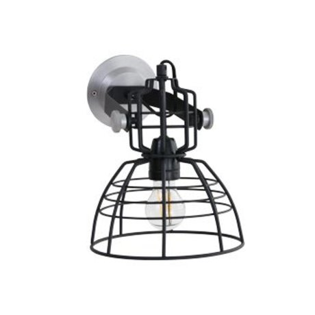 Anne Lighting Lámpara de pared Anne MarkllI Mini ø22x24cm de metal negro