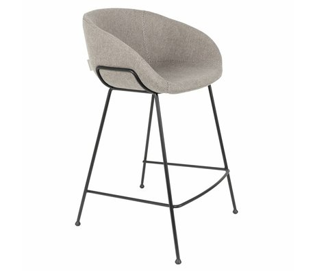 Zuiver Skammel Feston Fab counter grå polyester 54,5x53x88,5cm