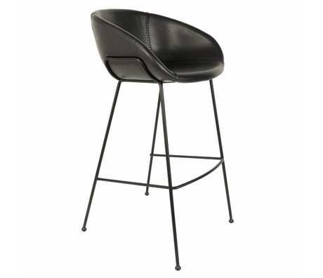 Zuiver Stool Feston sort kunstlæder 54,5x53x98,5cm