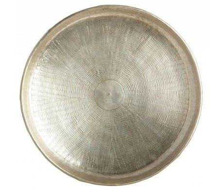 Housedoctor Vassoio scolpire metallo oro Ø38cmx1,5cm