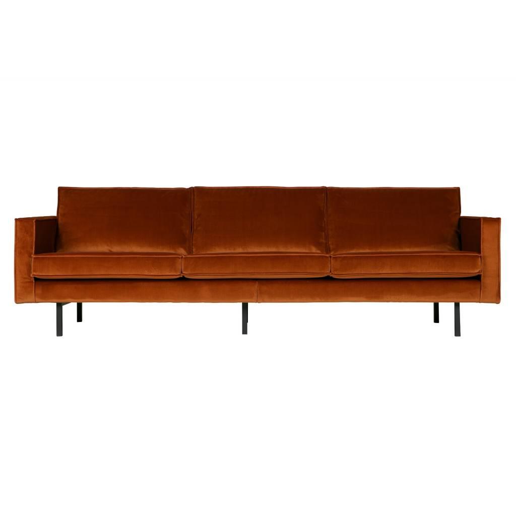 Ansprechend 3 Sitzer Couch Foto Von Eine Herrlich Samtige Rostfarbene 3-sitzer-couch Von Bepurehome.