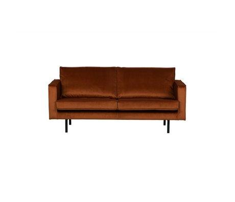 BePureHome Bank Rodeo 2.5-sæders rust appelsin fløjl fløjl 190x86x85cm