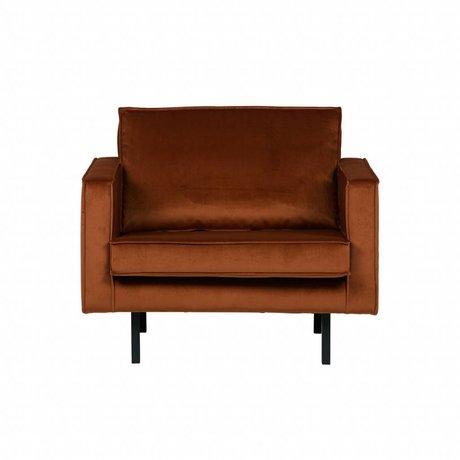 BePureHome Poltrona Rodeo ruggine arancione velluto velluto 105x86x85cm