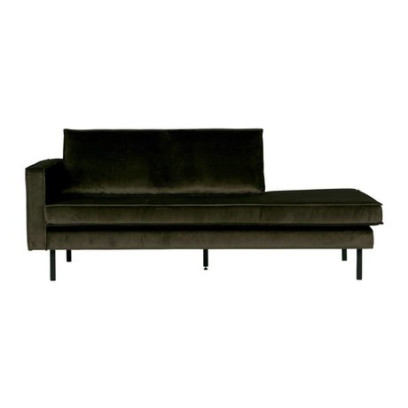 BePureHome Bank Daybed Grün Hunter links grüner Samt Samt 90x216x90cm