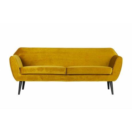 LEF collections Banka Rocco oda hardal sarısı kadife, polyester 75x187x82cm