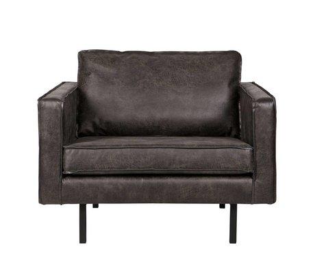 BePureHome Sillón Rodeo 105x86x85cm cuero negro