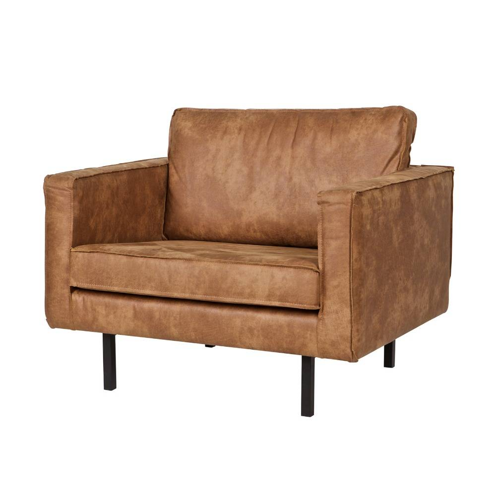 l nestol rodeo cognacfarvet l der 105x86x85cm. Black Bedroom Furniture Sets. Home Design Ideas