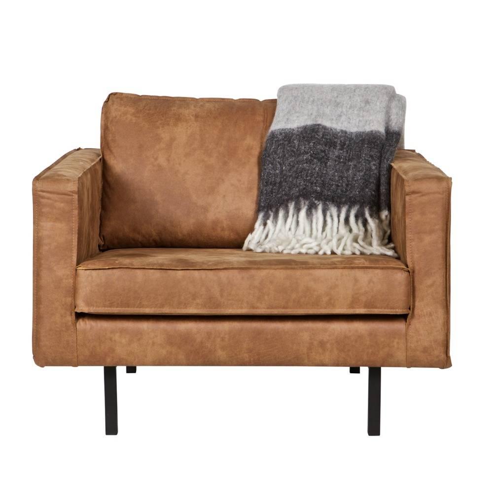 bepurehome sessel rodeo cognac braun leder 105x86x85cm. Black Bedroom Furniture Sets. Home Design Ideas