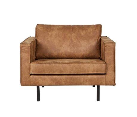 BePureHome Lænestol Rodeo cognacfarvet læder 105x86x85cm