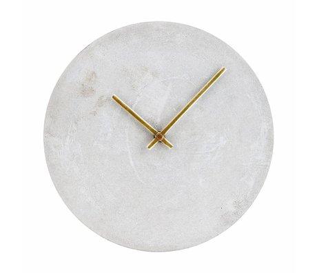 Housedoctor Vigilanza di orologio grigio cemento Ø28cm
