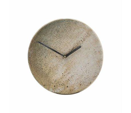 Housedoctor Metro Clock Ø22cm brown ceramic