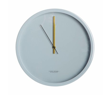 Housedoctor Uhr Clock Couture grau Aluminium Ø30cm