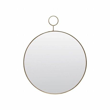 Housedoctor Le miroir de boucle Ø38cm de métal de verre