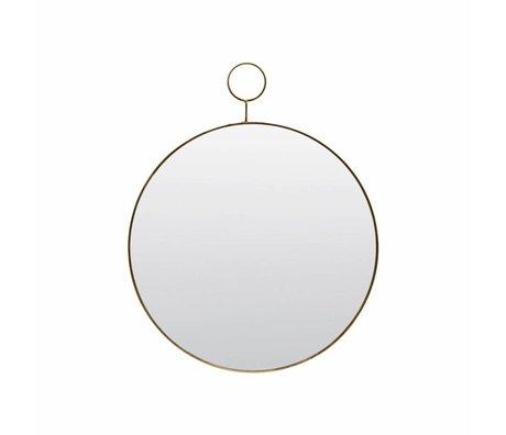 Housedoctor El espejo de bucle Ø32cm de metal de vidrio